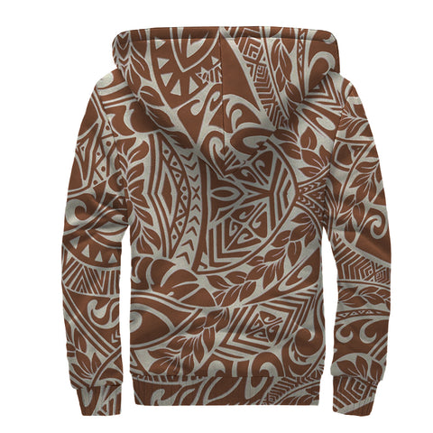 Image of Hawaii Polynesian Culture Sherpa Hoodie - AH - J6 - Alohawaii