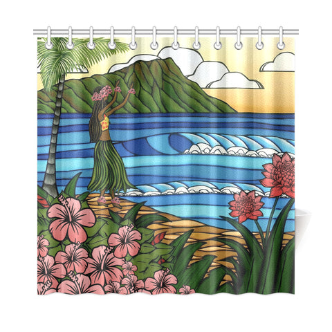 Hula Girl Shower Curtain - AH - J4 - Alohawaii