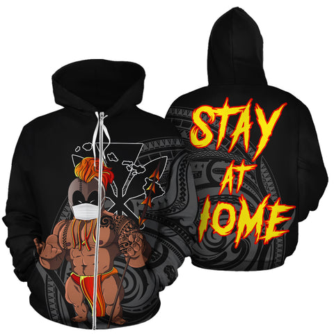 Image of Hawaii Stay At Home Warrior Hoodie (Zipper)