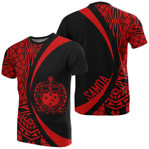 Samoa Red Polynesian T-Shirt - Circle Style