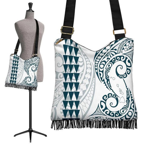 Hawaii Polynesian Crossbody Boho Handbag Blue - AH J4