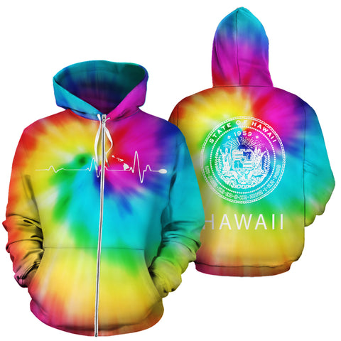 Image of Hawaiian State Hoodie (Zipper) Tie Dye - AH - J1