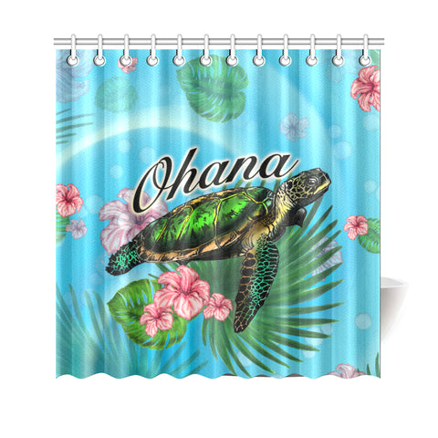 Image of Ohana Turtle Shower Curtain - AH J9 - Alohawaii