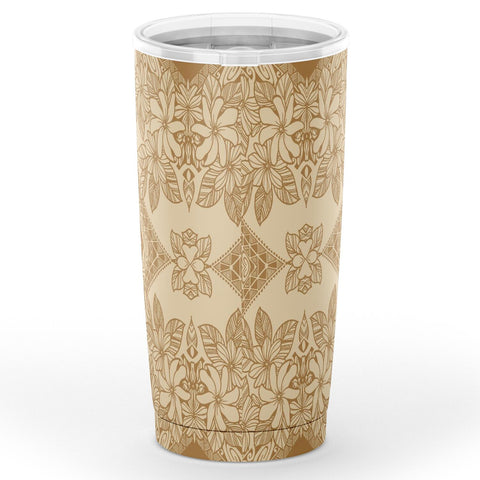 Hawaii Polynesian Plumeria Mix Gold Tumbler - AH - J6 - Alohawaii