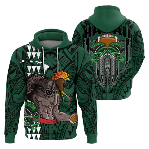 Hawaii Football Polynesian Warrior Hoodie