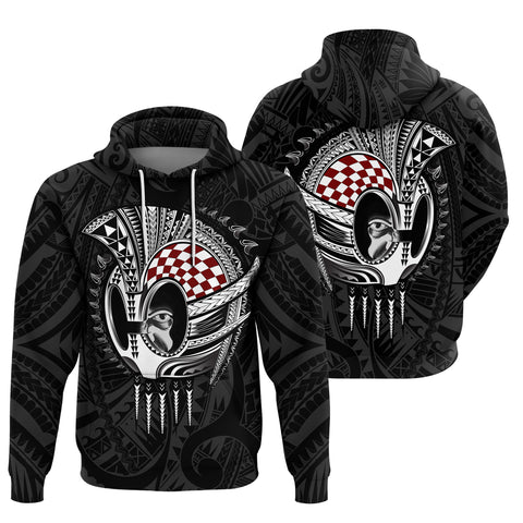 Hawaii Polynesian Warrior Mask Hoodie