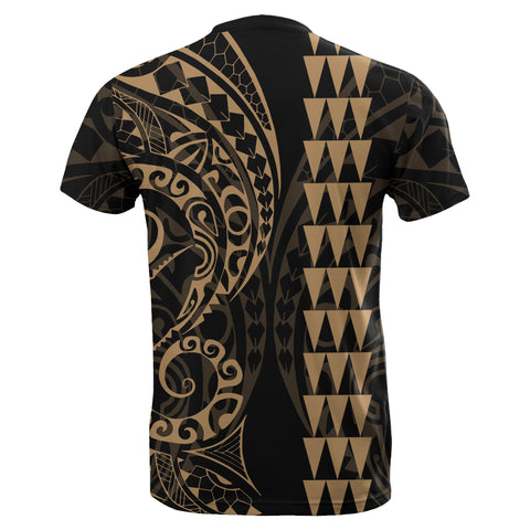 Image of Kanaka Map Polynesian T-shirt Gold - AH J4 - Alohawaii
