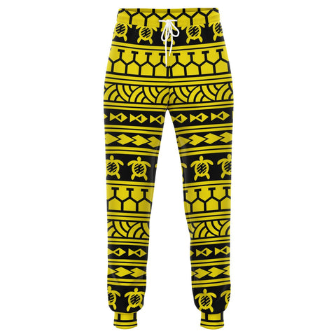 Image of Polynesian Tattoo Tribal Yellow Joggers