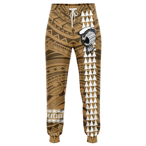 Hawaii Warrior Map Gold Kakau Joggers