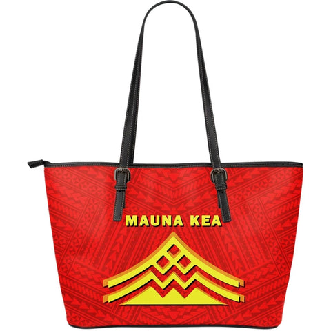 Hawaii Mauna Kea Polynesian Large Leather Tote Bag - AH - J71 - Alohawaii