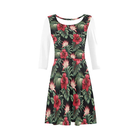 Image of Hibiscus Garden Sleeve Sundress - AH
