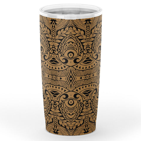 Hawaii Polynesian Culture Gold Tumbler - AH - J6 - Alohawaii