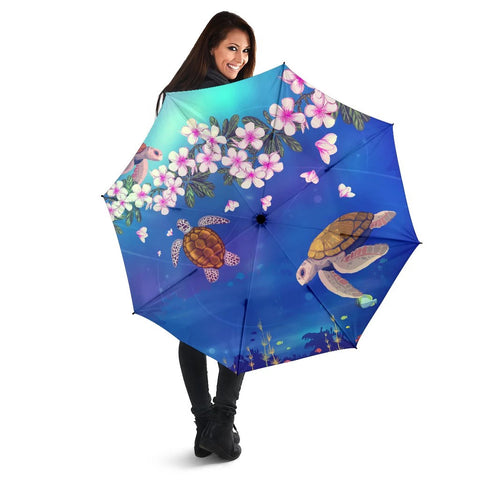 Turtle Plumeria Umbrella - AH - J1 - Alohawaii