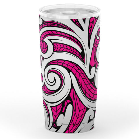 Image of Hawaii Polynesian Maori Ethnic Ornament Pink Tumbler - AH - J6 - Alohawaii