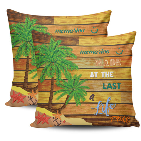 Hawaii Coconut Tree Beach Starfish Pillow Cover - Summer Color