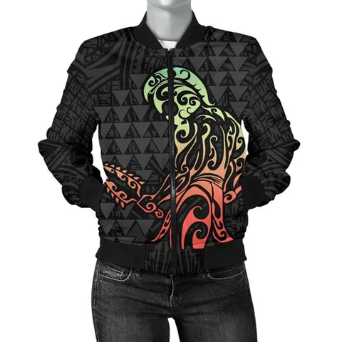 Image of Hawaii Warrior And Hook Women's Bomber Jacket
