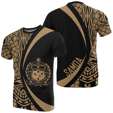 Image of Samoa Gold Polynesian T-Shirt - Circle Style