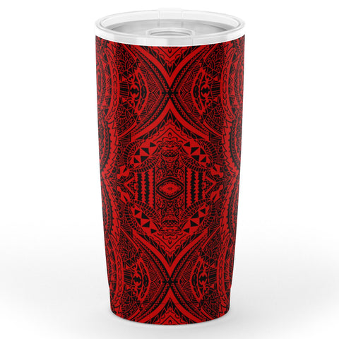 Image of Hawaii Polynesian Symmetry Red Tumbler