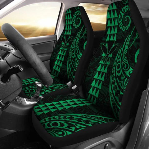 Image of Kanaka Polynesian Car Seat Covers Green - AH J4 - Alohawaii