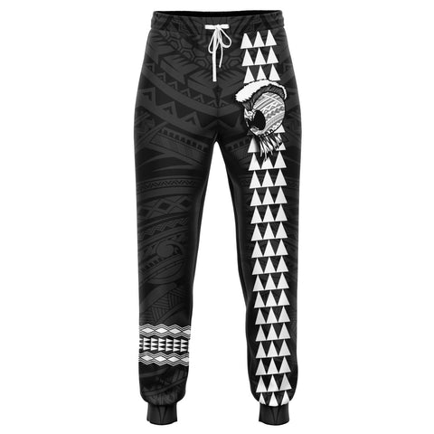 Image of Hawaii Warrior Map Gray Kakau Joggers