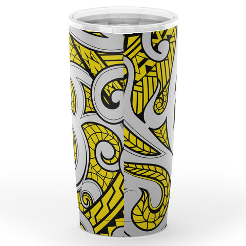 Hawaii Polynesian Maori Ethnic Ornament Yellow Tumbler - AH - J6 - Alohawaii