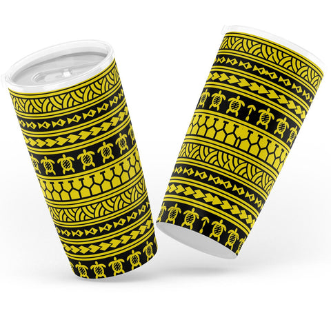 Hawaii Polynesian Tattoo Tribal Yellow Tumbler - AH - J6 - Alohawaii
