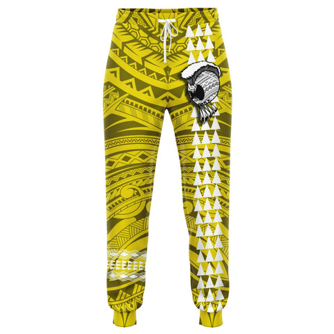 Hawaii Warrior Map Yellow Kakau Joggers