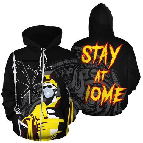 Image of Hawaii Stay At Home King Hoodie (Zipper)