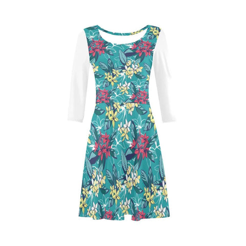 Image of Plumeria Beauty Sleeve Sundress - AH
