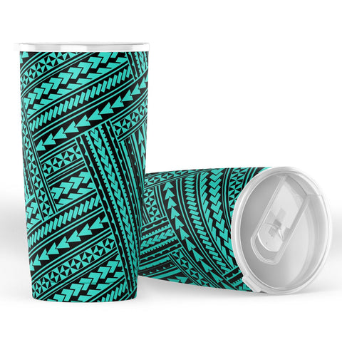 Hawaii Polynesian Nation Turquoise Tumbler - AH - J6 - Alohawaii