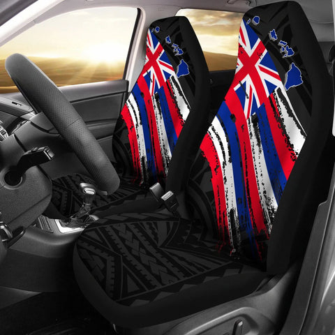 Hawaii Flag Polynesian Car Seat Covers - AH J2 - Alohawaii