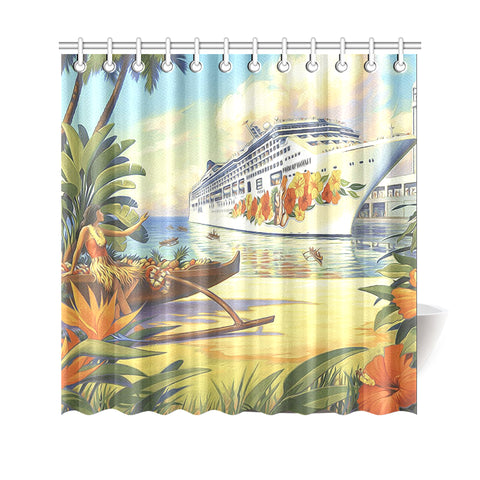 Vintage Hawaii Shower Curtain - AH - J4 - Alohawaii