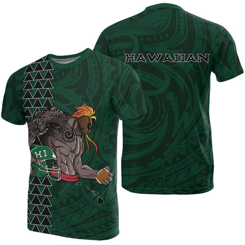Image of Polynesian Kakau - Hawaii Warrior Football T-Shirt - AH - J1 - Alohawaii