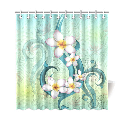 Plumeria Shower Curtain - AH - J4 - Alohawaii