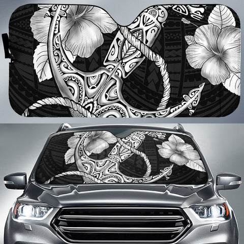 Anchor Poly Tribal Car Sun Shade AH J1 - Alohawaii