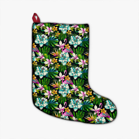 Animals And Tropical Flowers Christmas Stocking - AH - J4 - Alohawaii