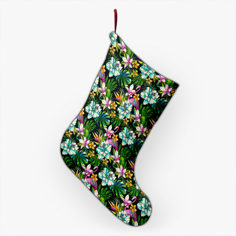 Animals And Tropical Flowers Christmas Stocking - AH - J4