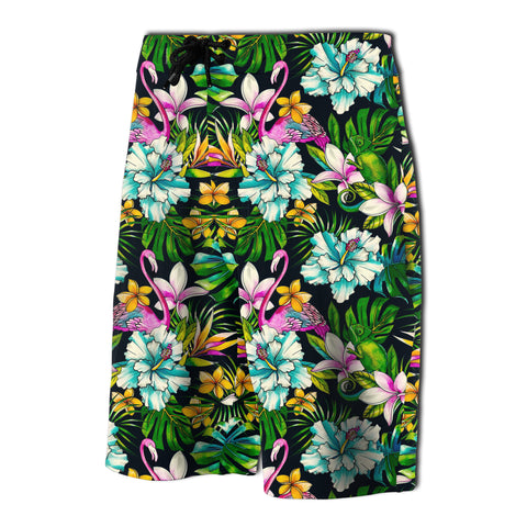 Image of Animals And Tropical Flowers Board Shorts - AH - J7 - Alohawaii