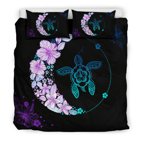 Hawaiian Hibiscus Plumeria Turtle Colorful Flower Bedding Set - AH J2 - Alohawaii