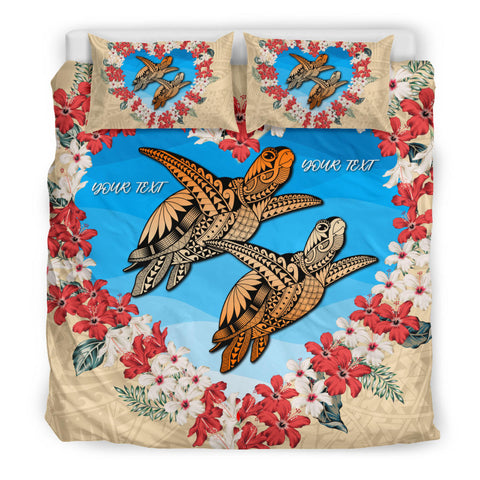 Image of Hawaii Turtle Polynesian Valentines Bedding Set