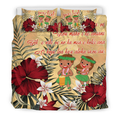 Image of Hawaii Hibiscus Hawaiian Love Poem Valentine's Bedding Set - Amour Style - AH - J3