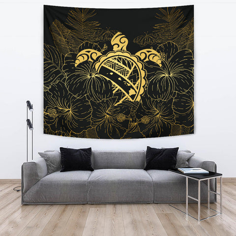 Hawaii Turtle Kanaka Golden Tapestry - AH - J4