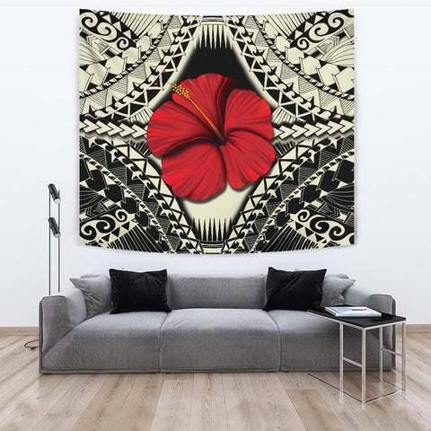 Hawaii Hibiscus Culture Polynesian Tapestry - AH - J5
