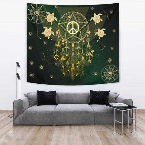Hawaii Dream Catcher Peace Style Galaxy -Tapestry  AH J2