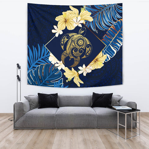 Image of Hawaii Turtle Tropical Tapestry - Taha Style - AH - J4
