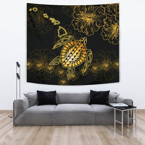 Image of Hawaiian Turtle Hibiscus - Tapestry - Flora Style - AH - J2