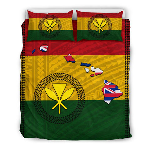 Image of Hawaii Kanaka Flag Polynesian Bedding Set