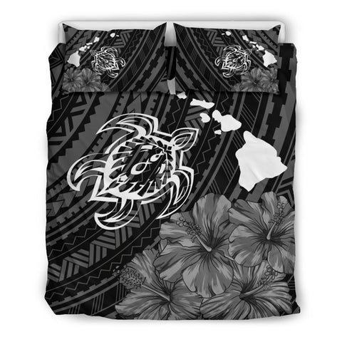 Image of Hawaiian Hibiscus Sea Turtle Swim Polynesian Bedding Set - AH - J5 - Alohawaii