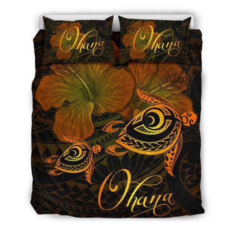 Hawaii Turtle Ohana Hibiscus Poly Bedding Set