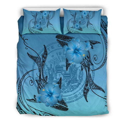 Hawaii Whale Coat Of Arm Polynesian Bedding Set